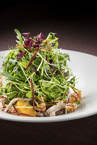 Salad at Golden Pavilion restaurant in the City of Dreams resort in Macau, China.