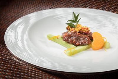 New Lunch Set Menu - 香煎蘇梅柳丁鴨 at Lai Heen restaurant in The Ritz-Carlton Macau hotel.