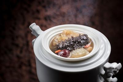 Winter Nourishing Recommendation - 紅杞鹿筋燉遼參 at Lai Heen restaurant in The Ritz-Carlton Macau hotel.