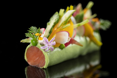 Food by Fabrice Vulin at the Tasting Room restaurant at the City of Dreams resort in Macau.
