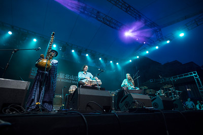 Soul Sangam performs at the Beishan World Music Festival in Zhuhai, China.