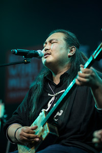 The Han Ta band performs at the Beishan World Music Festival in Zhuhai, China.