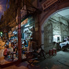 An alleyway barbershop along a street lined with traditional herb shops in Cholon, district 5, Ho chi Minh City, Vietnam on January 13, 2009. Photography by Forbes Conrad.