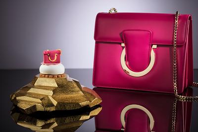 Feragamo handbag/tea set pairing at Wynn Palace Macau.