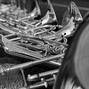 "Honorable Mention<br /> Advanced Still Life<br /> Lane Bishop <br /> Allen HS<br /> Allen, TX<br /> Instructor: Krista Luter<br /> ""French Horns Down the Sideline"""