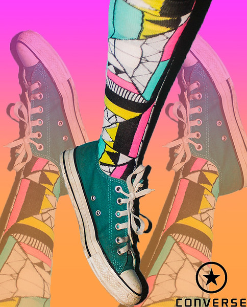 """Honorable Mention<br /> Advanced Advertising<br /> Amy McInnes <br /> Mccallum HS<br /> Austin, TX<br /> Instructor: Carey West<br /> """"Converse"""""""