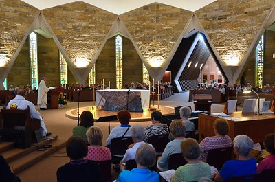 Our Sacred Heart Chapel was filled for the feast