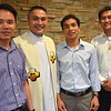 Fr. Francis and a few of his students from Vietnam