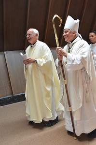Fr. Dominic and Bishop Haines