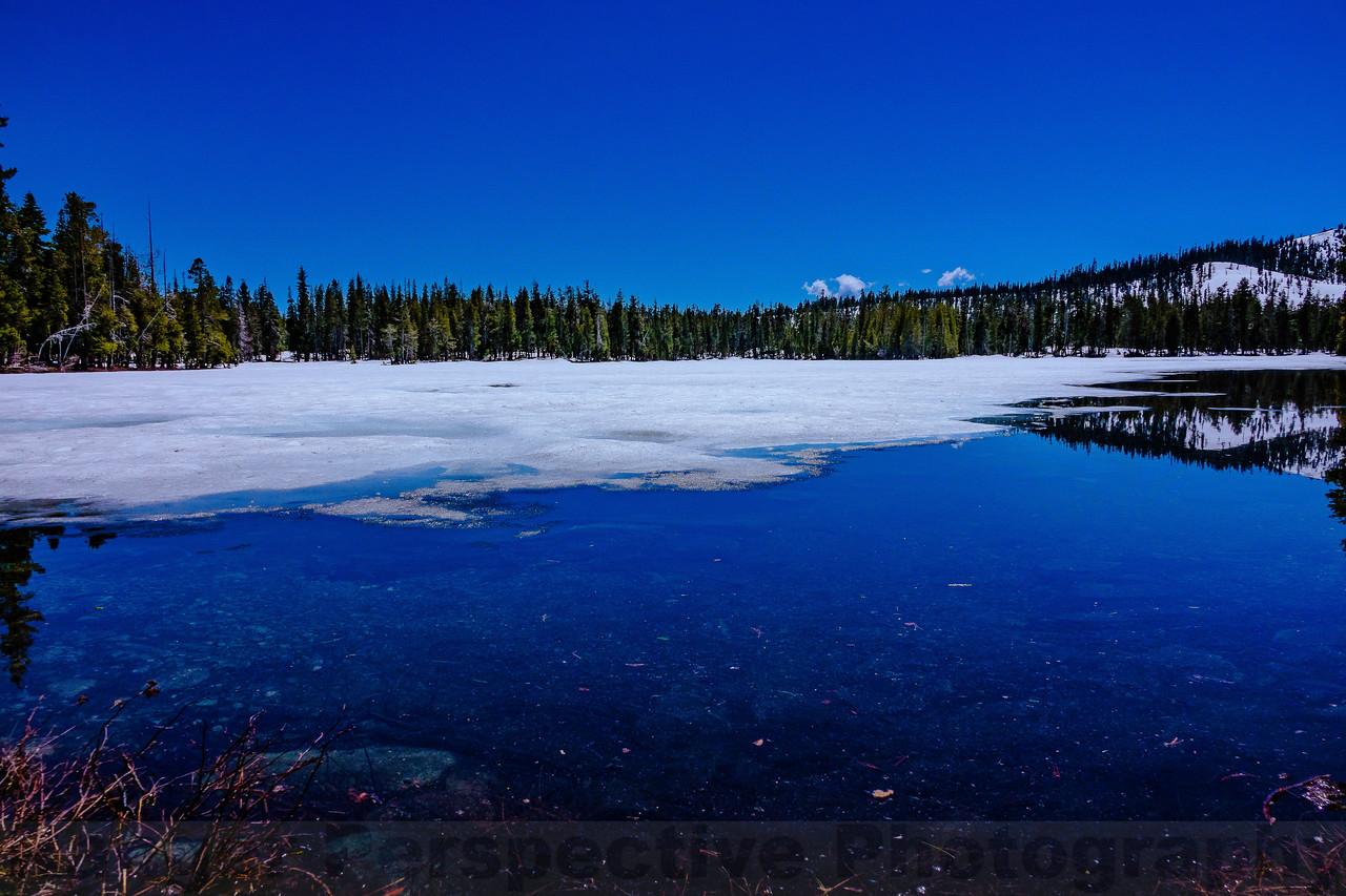 Thawning Ice of Goose Lake