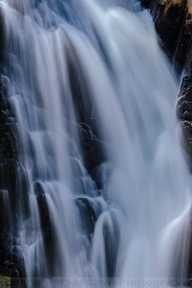 Slow Shutter Speed View of the Mid-plunge of Frazier Falls