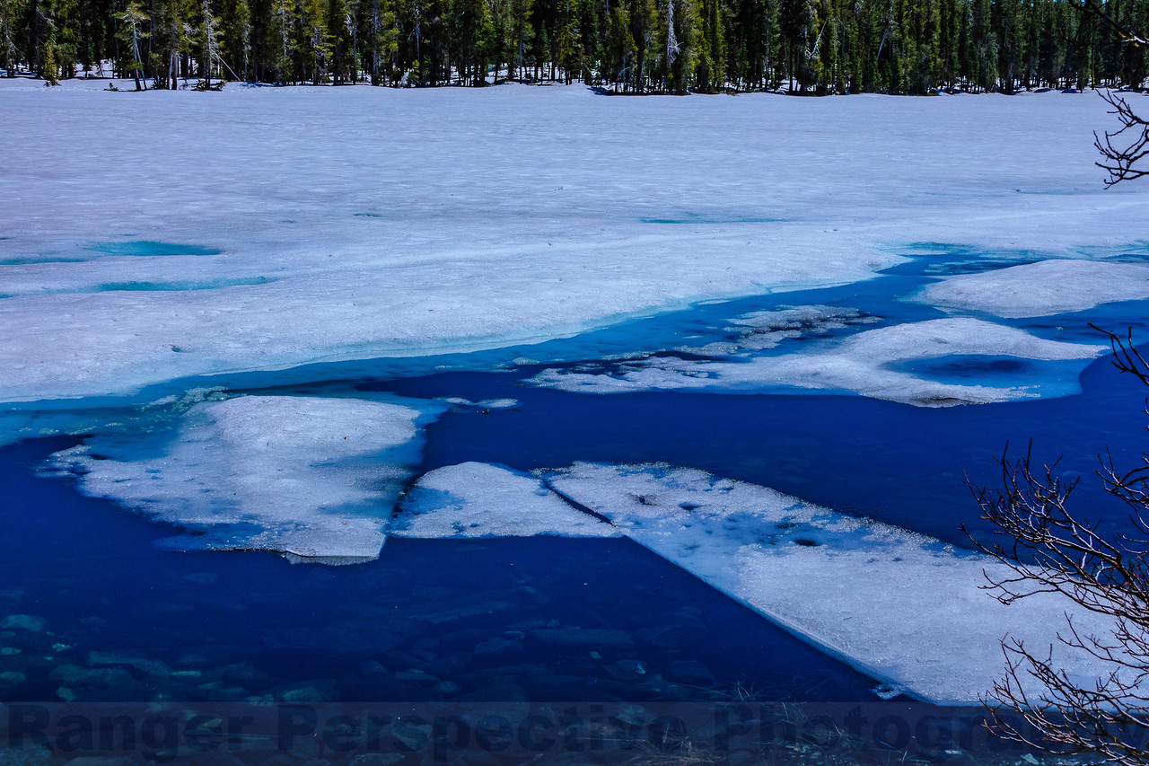 Ice Starting to Break Up on Goose Lake