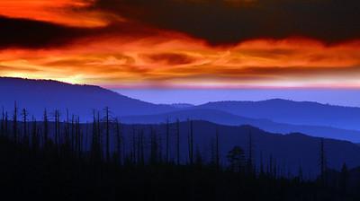 Firey Sunset Yosemite NP CA