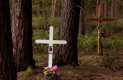 Crosses outside Sisters OR_9905