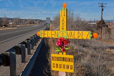 Roadside Memorial Hit & Run Espanola NM_9092