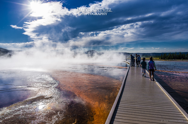 Steam, colors and people...there is no shortage of any of these at Yellowstone.