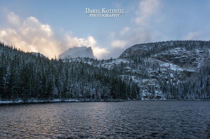 Hallett Peak's Evening Veil