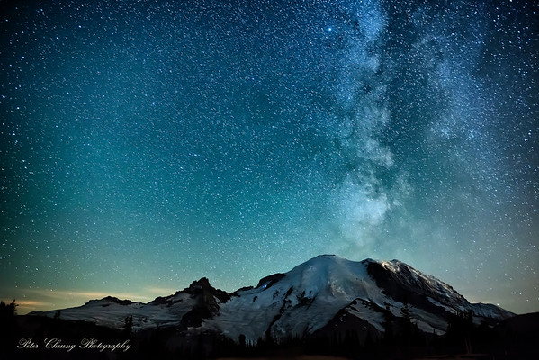 Milky Way over Mt. Rainier