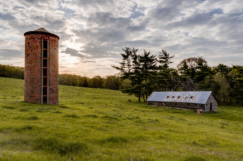 Red Silo and Old Shed
