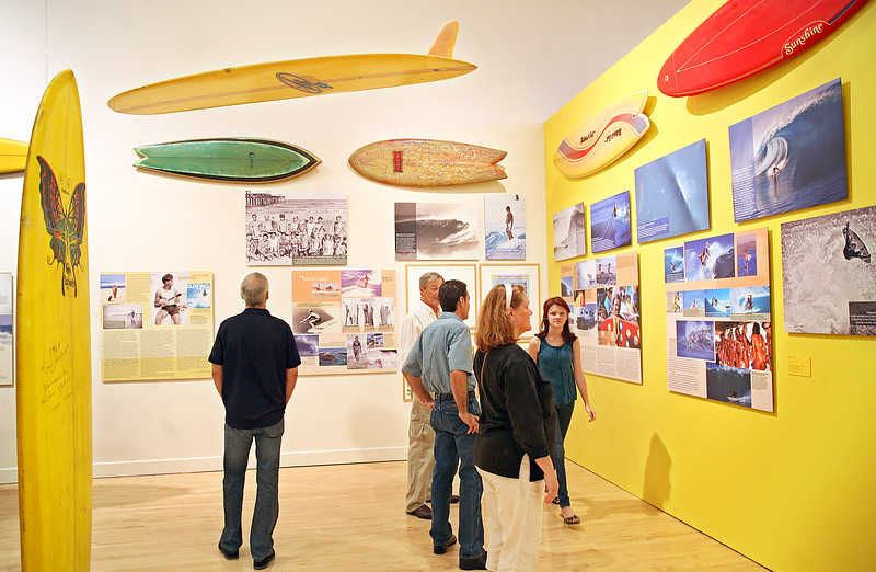 "031712 - BOCA RATON, FL -  History of Florida Surfing Exhibition at The University Galleries in the Dorothy F. Schmidt College of Arts and Letters ""Surfing Florida: A Photographic History,""  has been developed for the past three years by University Galleries Director W. Rod Faulds and Paul Aho, the exhibition's curator, a lifelong Florida surfer and head of photography and digital imaging at the Paducah School of Art. photo by Tim Stepien  Photo Reprints can be purchased online through smugmug at http://smu.gs/GIMDt9"