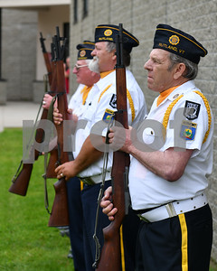 The firing squad from Rutland's American Legion Post 31 (Robert Layman / Staff Photo)