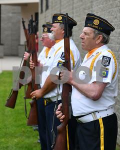 The firing squad from Rutland's American Legion Post 31 (Robert Layman / Staff Photo)