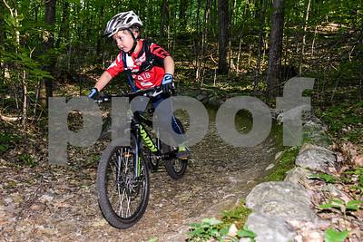 Wilder DiDomenico, 4, focuses hard down a burm. (Robert Layman / Staff Photo)