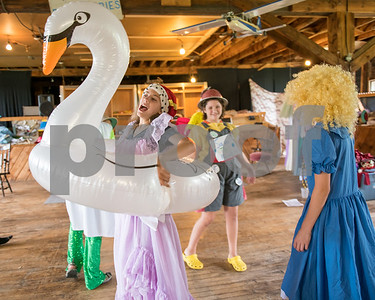 """Isla Mackenzie as """"Mother Goose"""" acts out her role during the costme parade. (Robert Layman / Staff Photo)"""