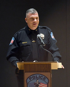 Brian Kilcullen, Rutland City Police Chief, speaks during the 5th annual Rutland City Police Department Awards Ceremony Thursday morning at the College of St. Joseph.