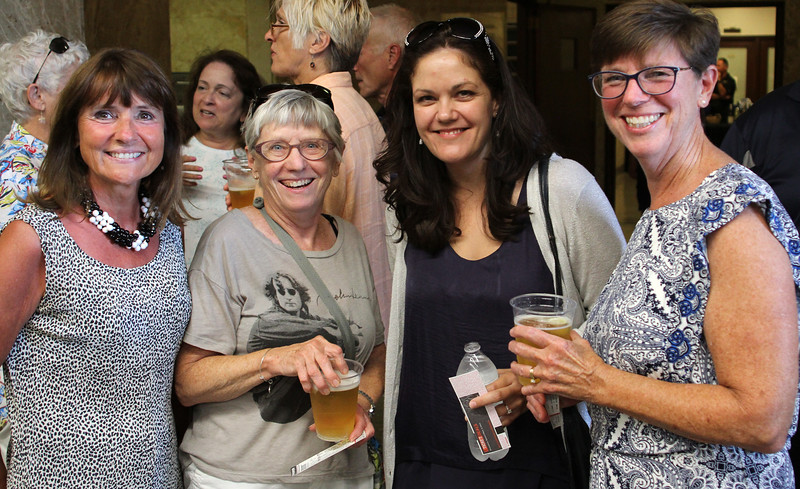 Lynn, Ma. 8-13-17. Nancy LaPoint, Anne Senk, Megan Luce, and Jeanne Fiore before the Ann Wilson concert at the Lynn Auditorium.