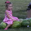 Peabody, Ma 8-13-17 Mia Betterncourt minding some fresh watermelon at the Mayors Picnic.