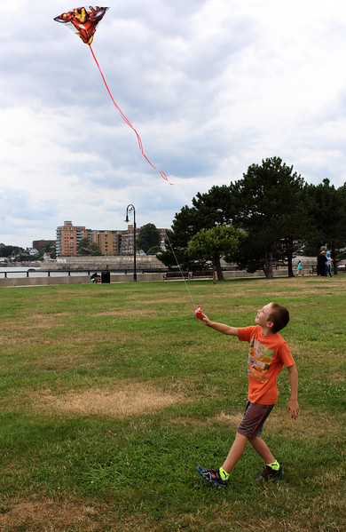 Lynn, Ma. 8-15-17. Isaiah Butler Jr. enjoys a summer day at Red Rock Park.