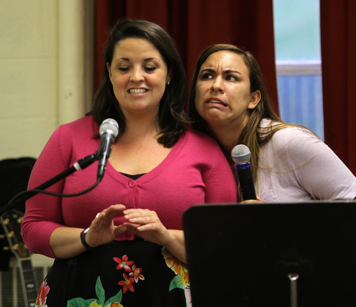 Marblehead, Ma. 8-8-17. Amy Doucette and Nicole Poirier during rehersal for Sister in Song to be performed  on Thursday August 10, at 7 pm at St. Stephen's Church in Marblehead.