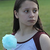 Lynn, Ma. 8-27-17. Michelle Acebedo eating cotton candy at the First Sporting and Recreational Fair held at McManus Field on Sunday.