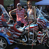 Saugus. Ma. 7-16-17. Lance Blais, and June Hawkins with thier 2016 Harley trike customized was at Mom's Cancer Fighting angels antique car show at Fuddruckers on Sunday.