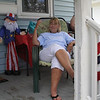 Lynn, Ma. 7-4-17. Joanne Hingston enjoys her 53rd year of block parties on Tarcy Street in Lynn.