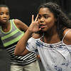 Lynn, Ma. 8-16-17. Carlos Thomas, left, and Nadia Lebron, right, during rehersal for Jazz is a Rainbow FREE kid's workshop at Lynn Arts for their upcoming show on August 26.