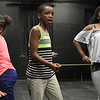 Lynn, Ma. 8-16-17. Keniah Anderson, Carlos Thomas, Nadia Lebron during rehersal at Jazz is a Rainbow FREE kid's workshop at Lynn Arts in preperation for their show on August 26.