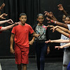 Lynn, Ma. 8-16-17. Jose Santana and Angelys Pagan, middle, during Jazz is a rainbow FREE kids' workshop rehearsal at Lynn Arts for their show on August 26.