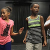 Lynn, Ma. 8-16-17. Keniah Anderson, Carlos Thomas, Nadia Lebron during rehersal at the Jazz is a Rainbow FREE kids' workshop at Lynn Arts for their upcoming show on August 26.