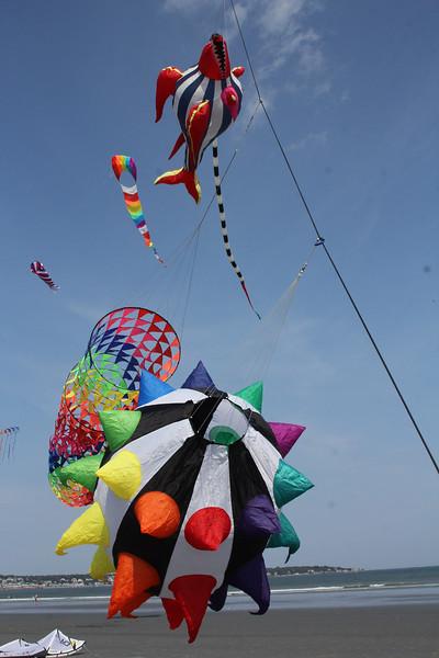 Lynn, Ma. 9-4-17. Many kites were iln the air okn Lynn Beach today.