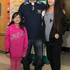 Malden Mayor Gary Christenson came to Salemwood School to support Mylee Tranle, 10, left, and Sammi Nie, 13, and many others who were donating their hair to Locks for Love on Saturday.