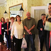 """Nahant, Ma. 6-29-17. Drew Russo making a short speech to the partygoers at the """"Night in Nahant: A Summer Party for the Lynn Museum/LynnArts"""" fundraiser at the historic Nahant Country Club."""