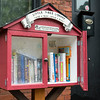 The new Little Free Library at 67 Ashland St. in Malden.