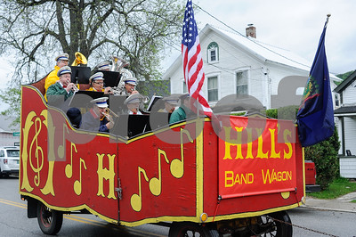 Robert Layman / Staff Photo The Band Wagon plays a tune as they roll down the Marble Street during the Memorial Day Parade in West Rutland.