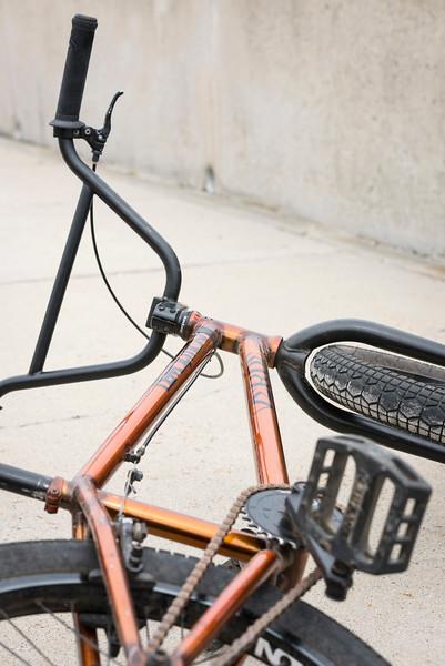Ryan Jordan's BMX bike.