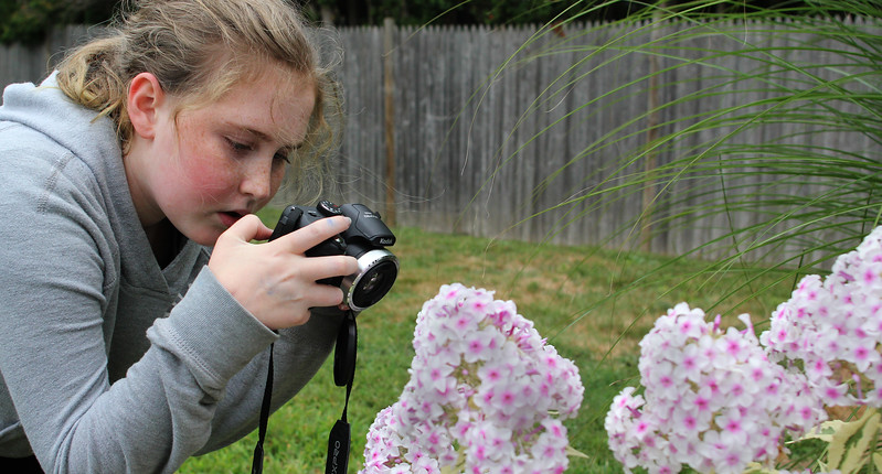 Eleven year old Sophia Smith like to take photos.