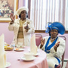 Ozella Norris, left, and Dorothy Thomas, both of Lynn, clap along to the music during the tea time event at One of the many stylish hats during the tea time event at Greater Bethlehem Temple Pentecostal Church in Lynn on Saturday.