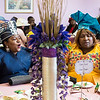 Rev. Annie Belmer of Zion Baptist Church in Lynn, left, and Maggie Rouse of Salem sing along to the music during the tea time event at Greater Bethlehem Temple Pentecostal Church in Lynn on Saturday.
