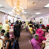 The crowd joins in the singing during the tea time event at Greater Bethlehem Temple Pentecostal Church in Lynn on Saturday.